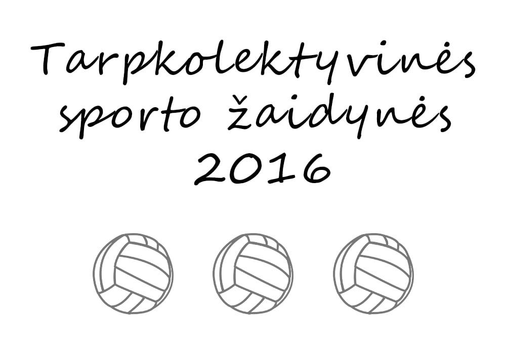 Tarpkolektyvinės sporto žaidynės 2016